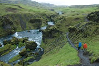 Hiking near Skogar - Iceland