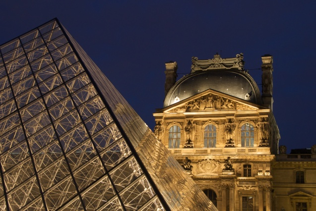 Louvre at Night - France