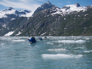 Paddling through ice - Glacier Bay