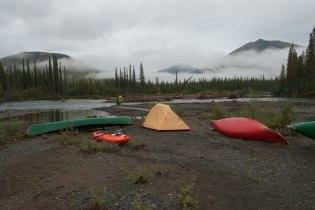 Cloudy Campsite - Hart River