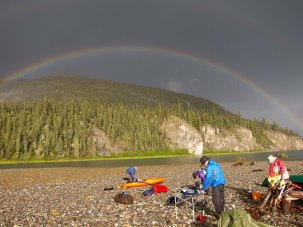 Rainbow and Camp - Hart River