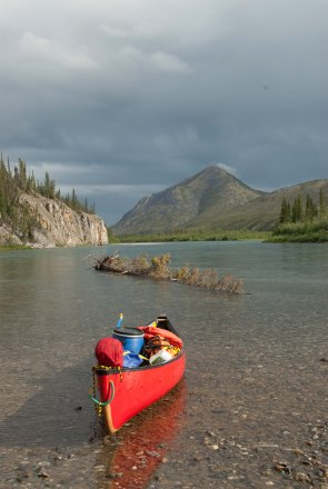 Boat and scenery - Hart River