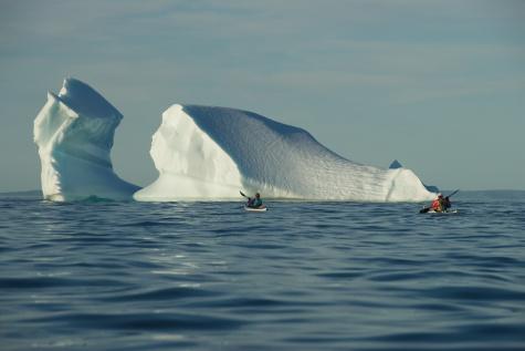 Paddlers exploring Iceberg - Newfoundland
